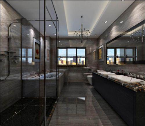 现代简约四居室卫生间装修效果图