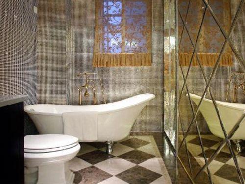 现代简约四居室卫生间浴缸装修图片