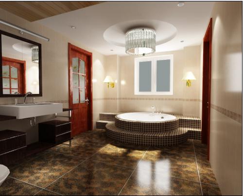 现代简欧复式卫生间装修图片