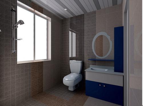 现代简约三居室卫生间装修效果图大全