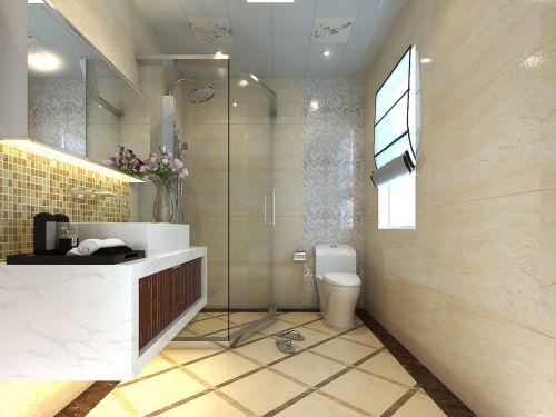 现代欧式三居室卫生间装修效果图欣赏