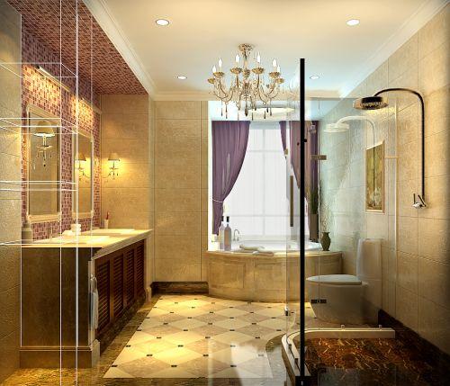 现代简约三居室卫生间装修图片