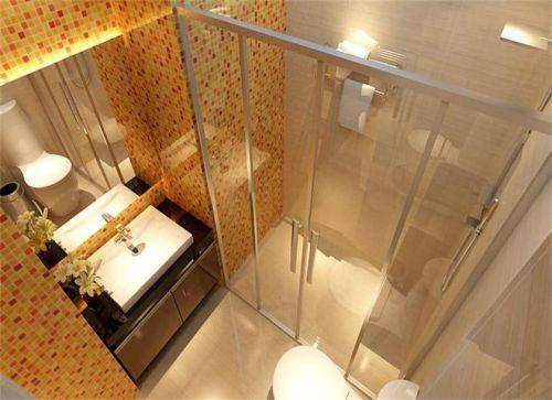 现代简约一居室卫生间吊顶装修效果图欣赏
