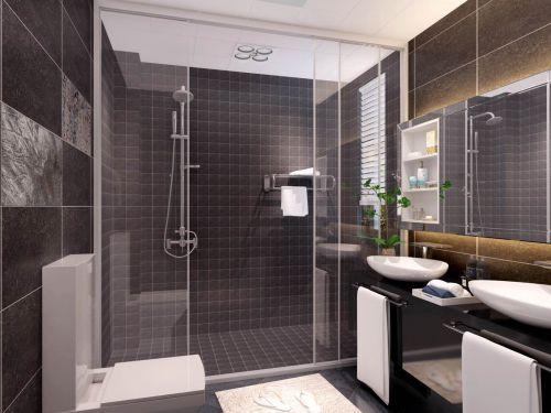 现代简约三居室卫生间吊顶装修效果图欣赏