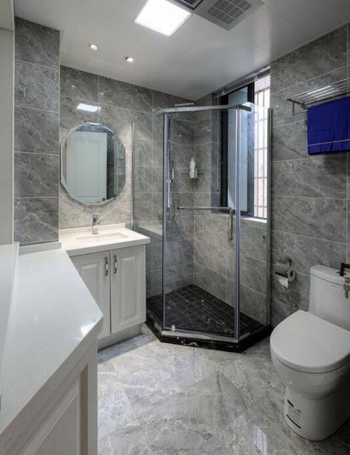 现代简约三居室卫生间浴室柜装修效果图欣赏