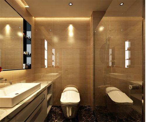 现代简约三居室卫生间吊顶装修效果图大全