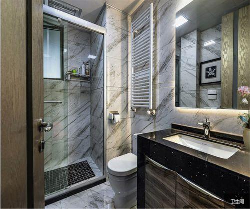现代简约五居室卫生间浴室柜装修效果图