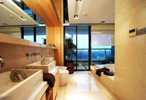 现代简约五居室卫生间浴缸装修效果图大全