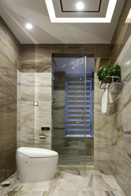 现代简约三居室卫生间灯具装修效果图大全