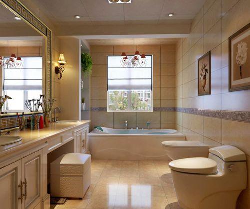 现代简约四居室卫生间灯具装修效果图大全