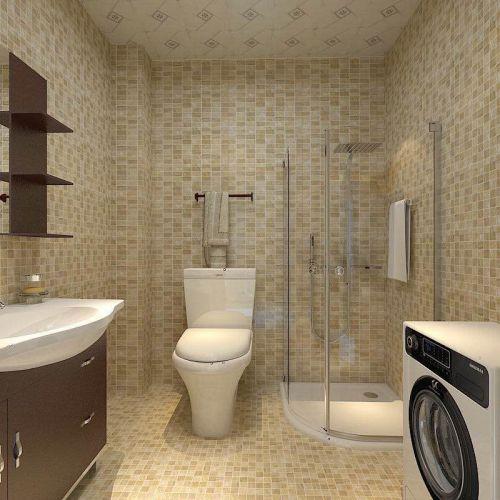 现代简约三居室卫生间浴缸装修效果图