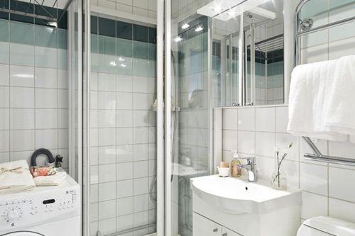 现代简约三居室卫生间浴室柜装修效果图大全