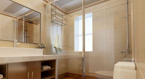 现代简约四居室卫生间浴室柜装修效果图欣赏
