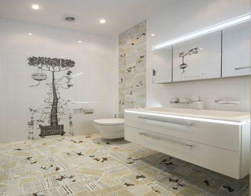 现代简约三居室卫生间吊顶装修图片