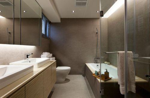 现代简约二居室卫生间浴室柜装修效果图