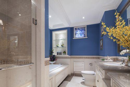 现代简约二居室卫生间灯具装修效果图