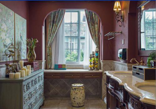 现代简约四居室卫生间浴缸装修效果图