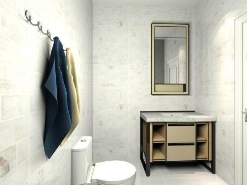 现代简约三居室卫生间瓷砖装修效果图大全