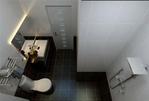 现代简约一居室卫生间浴室柜装修效果图欣赏