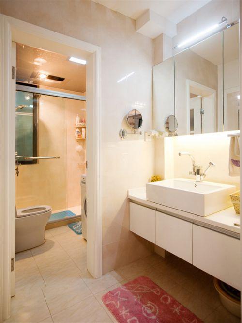 现代简约一居室卫生间浴室柜装修效果图大全