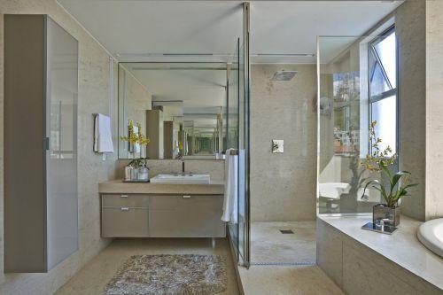 清爽现代风格卫生间洗手台装修设计
