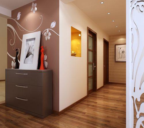 现代简约三居室玄关装修图片