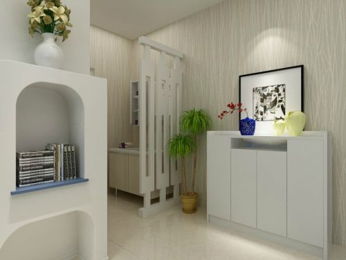 现代简约三居室玄关灯具装修效果图欣赏