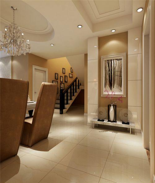 现代简约三居室玄关楼梯装修效果图欣赏