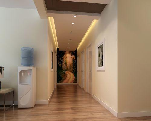 现代简约三居室玄关楼梯装修效果图