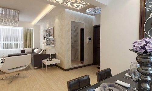 现代简约风145平四居室带走廊玄关装修效果图
