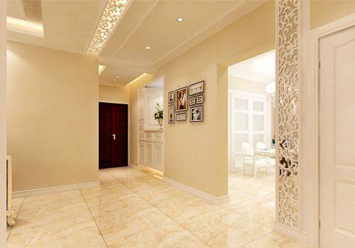 现代风格玄关米色背景墙装修效果图