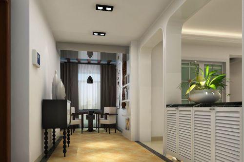 二居室现代风格玄关鞋柜装修图片