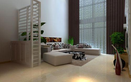 一居室现代风格玄关白色鞋柜图片