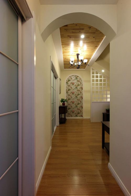 现代美式120平复式楼简洁玄关装修效果图
