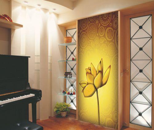 一居现代屏风玄关装饰效果图
