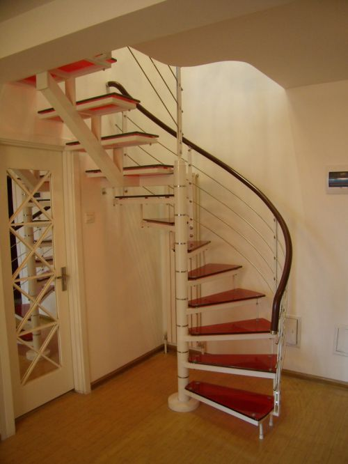 188平现代风白色玄关楼梯装修效果图