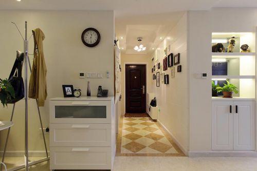 两居室现代风照片墙背景墙玄关装修图