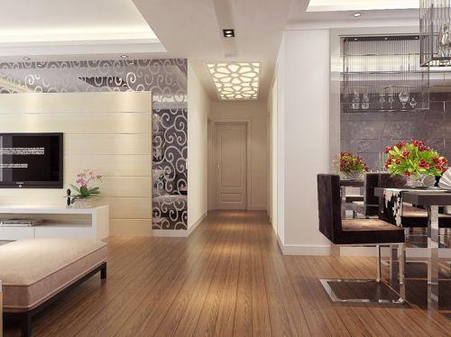 现代简约三居室玄关吊顶装修效果图大全