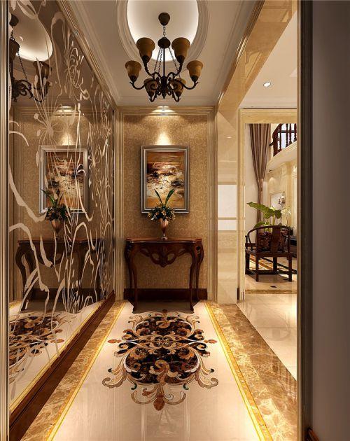 现代简约四居室玄关吊顶装修效果图欣赏