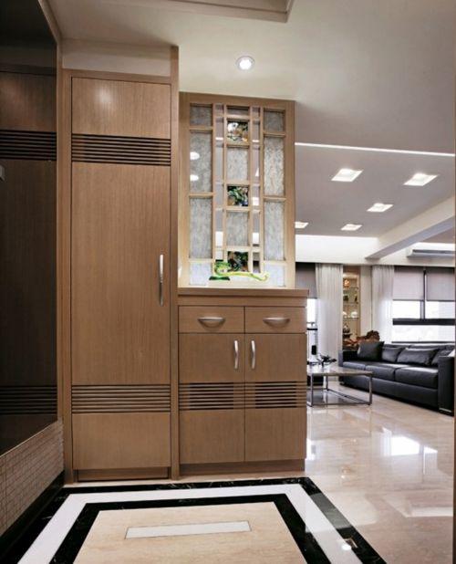现代简约风格玄关鞋柜组合柜装修效果图