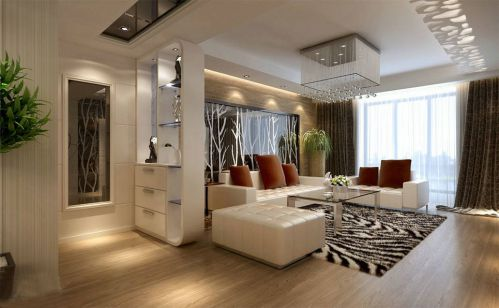 现代简约四居室玄关装修效果图大全