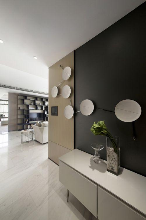 低奢现代简约风格玄关背景墙装修图片