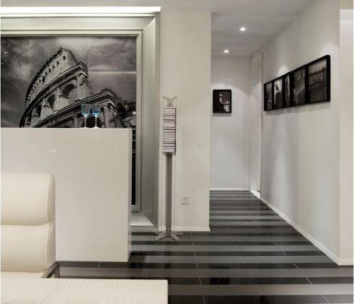 现代简约别墅玄关走廊装修效果图