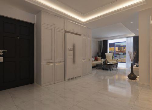 现代简约二居室玄关壁纸装修效果图欣赏