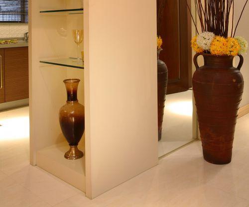 现代简约一居室玄关储物柜装修图片