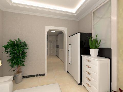 现代简约一居室玄关走廊装修图片