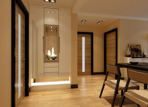 现代简约二居室玄关鞋柜装修效果图