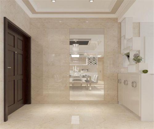 现代简约三居室玄关橱柜装修效果图大全