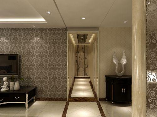 现代简约四居室玄关走廊装修效果图