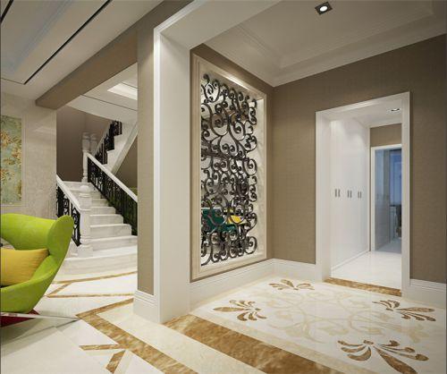 现代简约复式玄关楼梯装修效果图大全